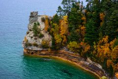 Miners Castle cliff in Pictured Rocks. National Lakeshore, Munising, MI, USA Stock Photography