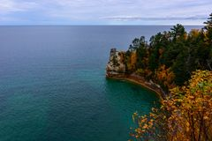 Miners Castle cliff in Pictured Rocks. National Lakeshore, Munising, MI, USA Stock Photo