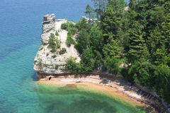Miners Castle. Formation in Pictured Rocks National Lakeshore Royalty Free Stock Image