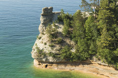 Miners Castle at Pictured Rocks, Michigan Stock Photography