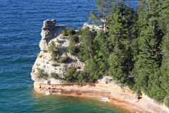 Miners Castle at Pictured Rocks. National Lake shore Royalty Free Stock Photography