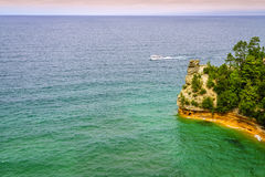 Miners Castle. Scenic view of Miners Castle rock formation in Pictured Rocks National Lakeshore on Upper Peninsula, Michigan Stock Photos