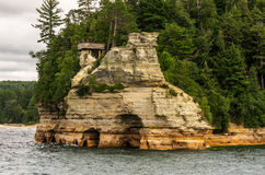 Miners Castle. On the shoreline of Lake Superior Royalty Free Stock Photos