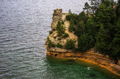 Miners Castle. On the shoreline of Lake Superior Stock Image