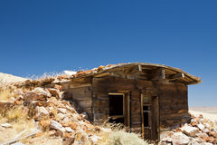 Miners Dugout Dwelling. Dugout Miners Shack abandoned in the Nevada desert royalty free stock images