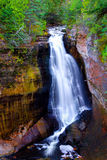 Miners Falls. Waterfall in Munising, Michigan Stock Images
