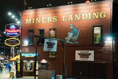 Miners Landing Seattle Washington. Image of Miners Landing in Seattle at night. This landmark is located on the waterfront where tourist go to discover the Royalty Free Stock Photo