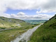 Miners path in the Coppermines valley, Coniston Royalty Free Stock Photos