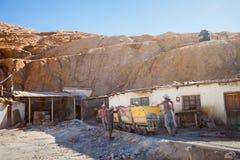 Miners in Potosi Stock Image