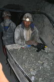 Miners in south america Stock Images