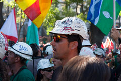 Miners' strike Stock Photo