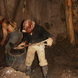 Miners working in potosì mine in bolivia Royalty Free Stock Photos