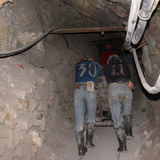 Miners working in potosì mine in bolivia Stock Images