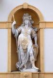 Minerva, римская богиня премудрости и рекламодатель искусств, торговли, и стратегии стоковое изображение