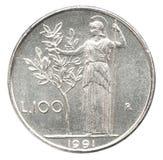 Minerva стоя держащ оливковое дерево стоковые фотографии rf