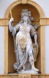 Minerva, diosa romana de la sabiduría y patrocinador de artes, del comercio, y de la estrategia Foto de archivo