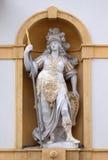 Minerva, diosa romana de la sabiduría y patrocinador de artes, del comercio, y de la estrategia Fotografía de archivo