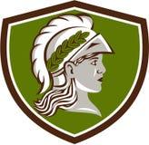 Minerva Head Crest Retro Stock Photos