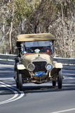 1914 Minerva KK 18CV Tourer. Adelaide, Australia - September 25, 2016: Vintage 1914 Minerva KK 18CV Tourer driving on country roads near the town of Birdwood Royalty Free Stock Images