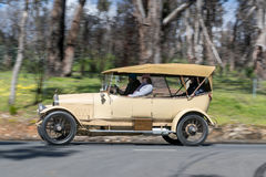 1914 Minerva KK 18CV Tourer. Adelaide, Australia - September 25, 2016: Vintage 1914 Minerva KK 18CV Tourer driving on country roads near the town of Birdwood Stock Photography