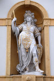 Minerva, Roman goddess of wisdom and sponsor of arts, trade, and strategy. Arsenal Zeughaus historic center listed as World Heritage by UNESCO in Graz, Styria stock image