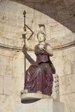 Minerva som Dea Roma Arkivfoto