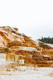 Minerva taras w Mamutowych Gorących wiosnach Obrazy Stock