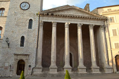 Minerva-Tempel in Assisi - Italy Stock Images