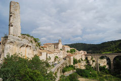 Minerve, σπίτι του γαλλικού κρασιού Minervois στοκ φωτογραφία με δικαίωμα ελεύθερης χρήσης