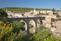 Minerve bridge Royalty Free Stock Photo
