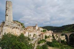 Minerve, casa do vinho francês de Minervois Fotografia de Stock Royalty Free