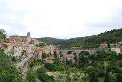 Minerve, hogar del vino francés de Minervois Imagen de archivo libre de regalías