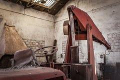 Mines abandonnées d'Alquife de machines Image libre de droits