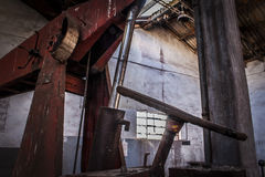 Mines abandonnées d'Alquife de machines Images libres de droits