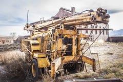 Mines abandonnées d'Alquife de machines Photos stock