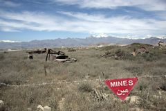 Mines in Afghanistan Stock Photo