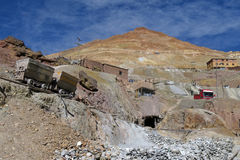 Mines argentées de Potosi Bolivie Image stock