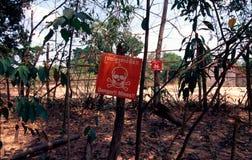 mines de danger Photo stock