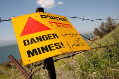 Mines de danger ! photos libres de droits
