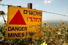 Mines de danger ! images libres de droits