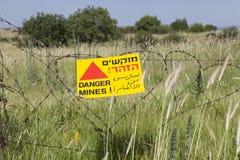 Mines de danger photographie stock libre de droits