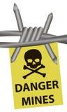 Mines de danger illustration stock