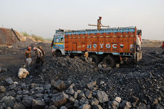 Mines de houille en Inde Images libres de droits