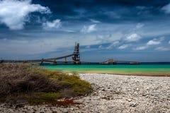 Mines de sel Bonaire Images libres de droits