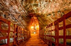 Mines de sel de Khewra Pakistan Image stock