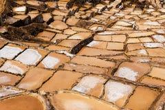 Mines de sel de Maras près du village de Maras, vallée sacrée, Pérou Image libre de droits