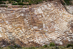 Mines de sel de Maras près du village de Maras, vallée sacrée, Pérou Image stock