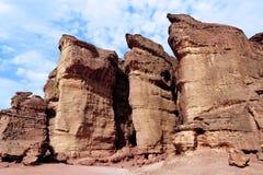 Mines de Timna de parc et de Roi Solomon's Photo stock