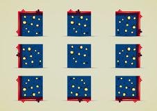 Mines sprites for creating video game. Mines tile set for creating video game Vector Illustration