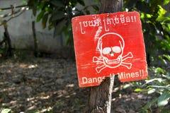 Mines terrestres au Cambodge Images libres de droits